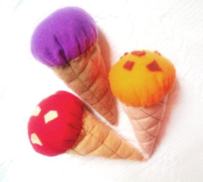 tutorial handmade inghetata de fetru