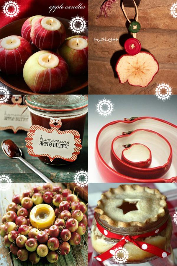 decoratiuni si ornamente de craciun din mere