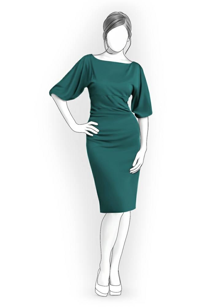 Платье с широкими рукавами сшить своими руками