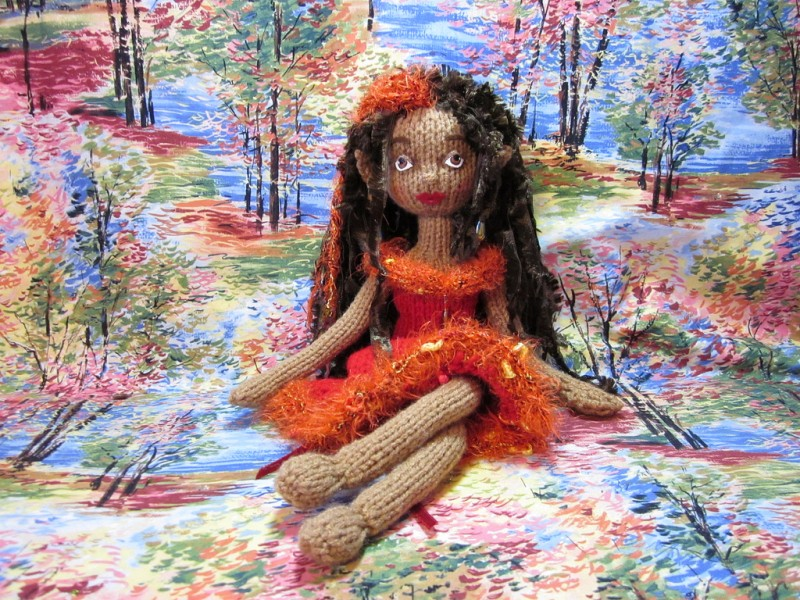 Embyr knitted doll