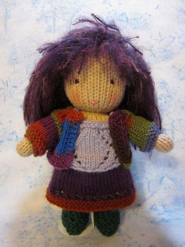Knit Waldorf doll, Beth's own design