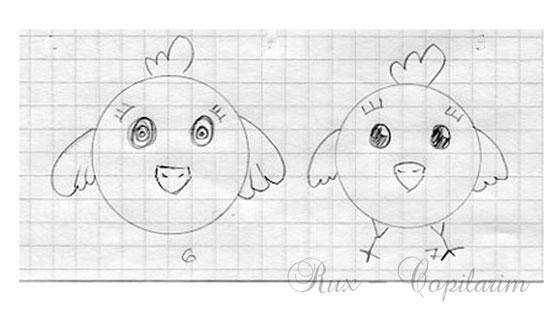 cum desenam un pui