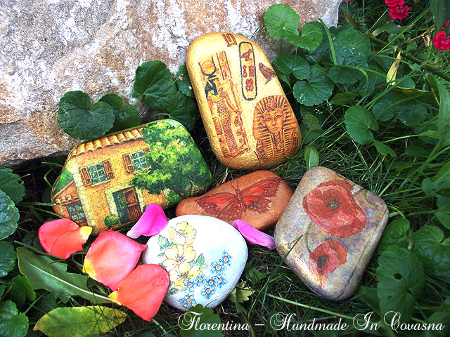 handmade in covasna + decoupage pietre