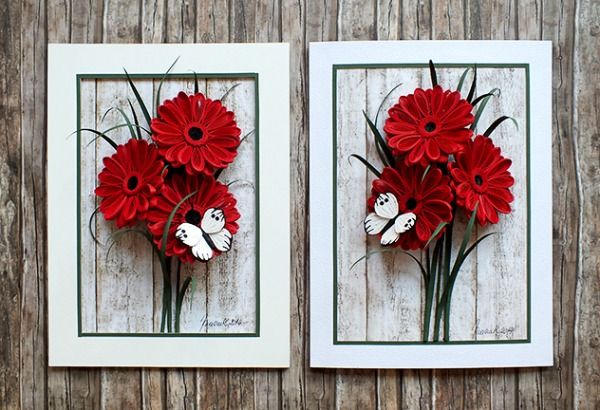 panels-with-quilled-gerbera-flowers-and-butterfly